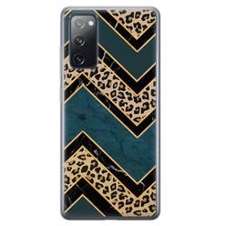 Leuke Telefoonhoesjes Samsung Galaxy S20 FE siliconen hoesje - Luipaard zigzag