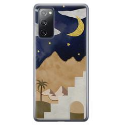 Samsung Galaxy S20 FE siliconen hoesje - Desert night
