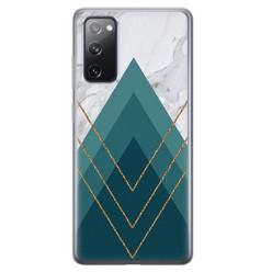 Samsung Galaxy S20 FE siliconen hoesje - Geometrisch blauw