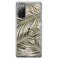 Leuke Telefoonhoesjes Samsung Galaxy S20 FE siliconen hoesje - Leave me alone