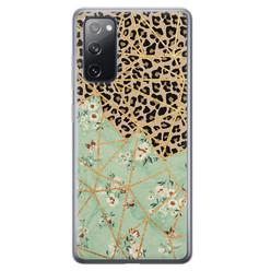 Samsung Galaxy S20 FE siliconen hoesje - Luipaard flower print