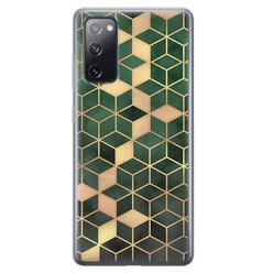Leuke Telefoonhoesjes Samsung Galaxy S20 FE siliconen hoesje - Green cubes