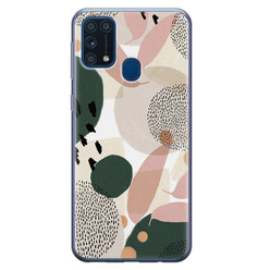 Samsung Galaxy M31 siliconen hoesje - Abstract print
