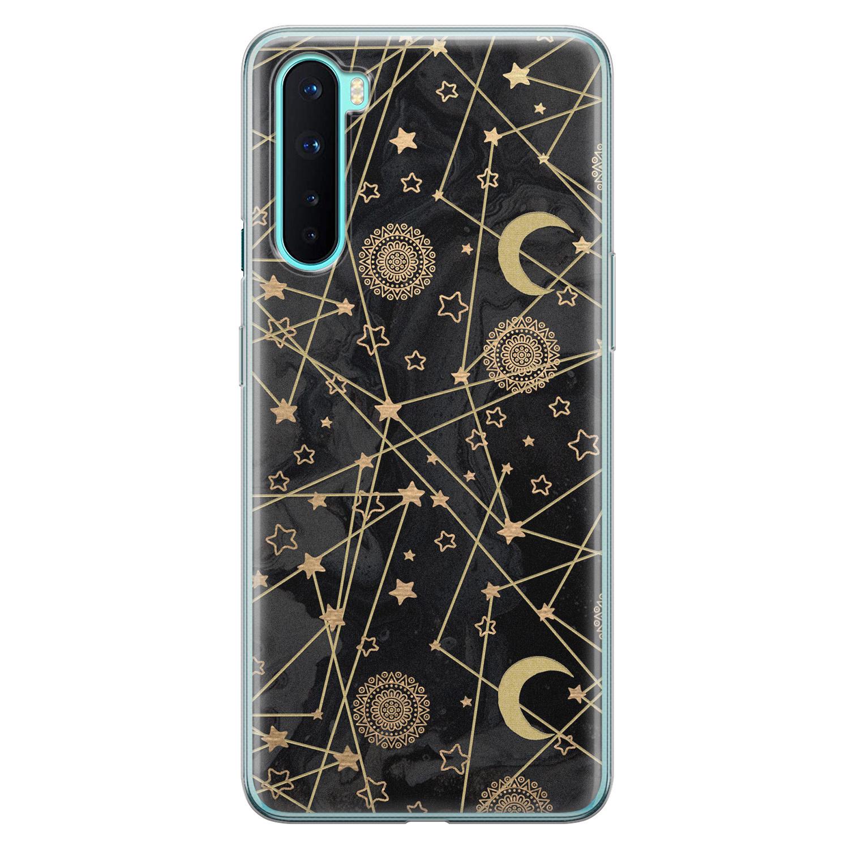 OnePlus Nord siliconen hoesje - Sun, moon, stars