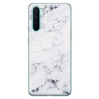 OnePlus Nord siliconen hoesje - Marmer grijs