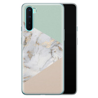 OnePlus Nord siliconen hoesje - Marmer pastel mix