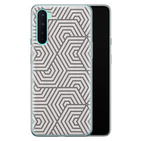 OnePlus Nord siliconen hoesje - Geometrisch