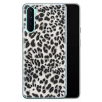 OnePlus Nord siliconen hoesje - Luipaard grijs