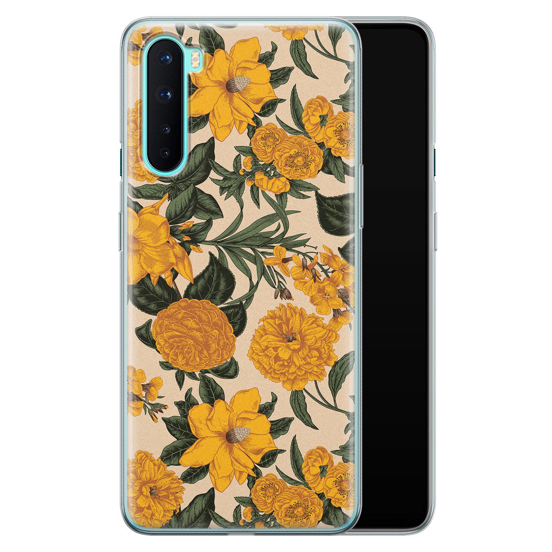 OnePlus Nord siliconen hoesje - Retro flowers