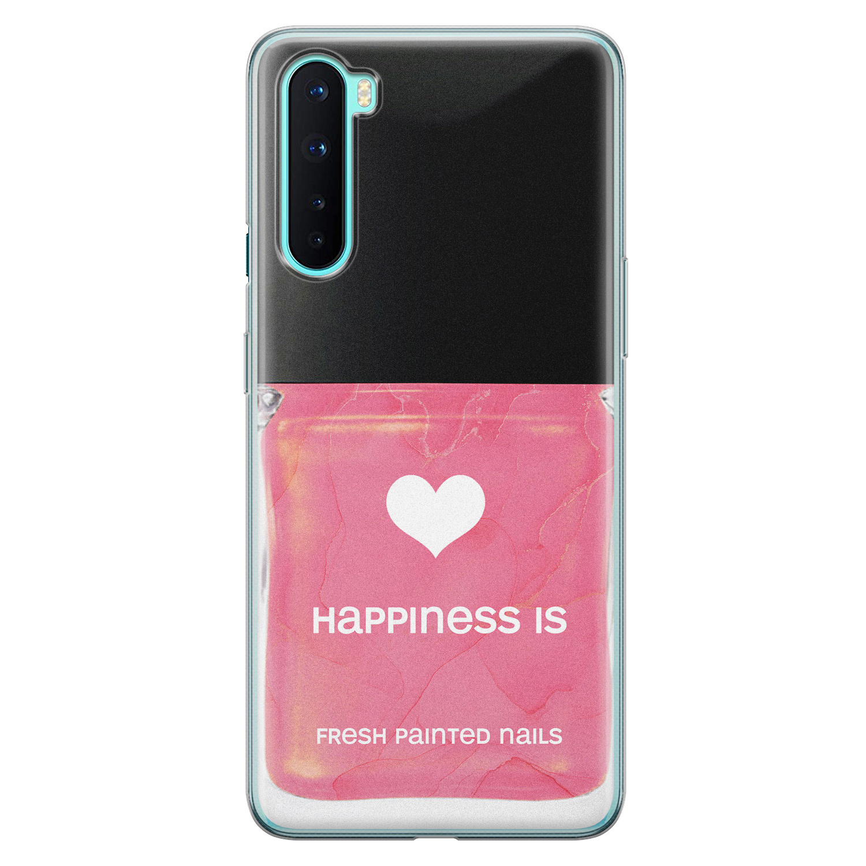 OnePlus Nord siliconen hoesje - Nagellak