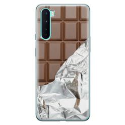 Leuke Telefoonhoesjes OnePlus Nord siliconen hoesje - Chocoladereep
