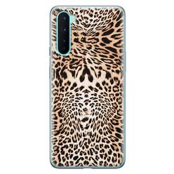 Leuke Telefoonhoesjes OnePlus Nord siliconen hoesje - Wild animal