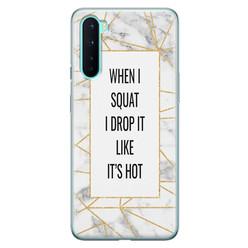 Leuke Telefoonhoesjes OnePlus Nord siliconen hoesje - Dropping squats
