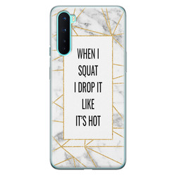 OnePlus Nord siliconen hoesje - Dropping squats