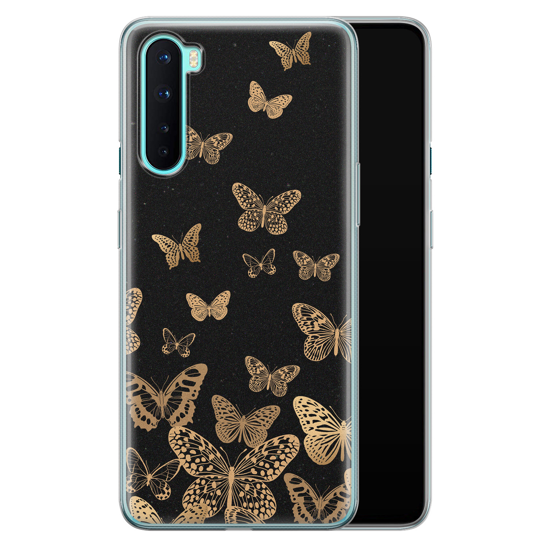 OnePlus Nord siliconen hoesje - Vlinders
