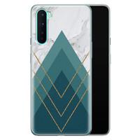 OnePlus Nord siliconen hoesje - Geometrisch blauw
