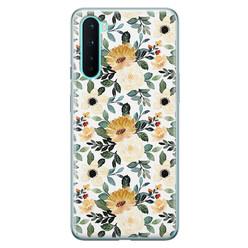 Leuke Telefoonhoesjes OnePlus Nord siliconen hoesje - Lovely flower