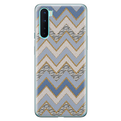 Leuke Telefoonhoesjes OnePlus Nord siliconen hoesje - Retro zigzag