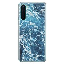 Leuke Telefoonhoesjes OnePlus Nord siliconen hoesje - Ocean blue