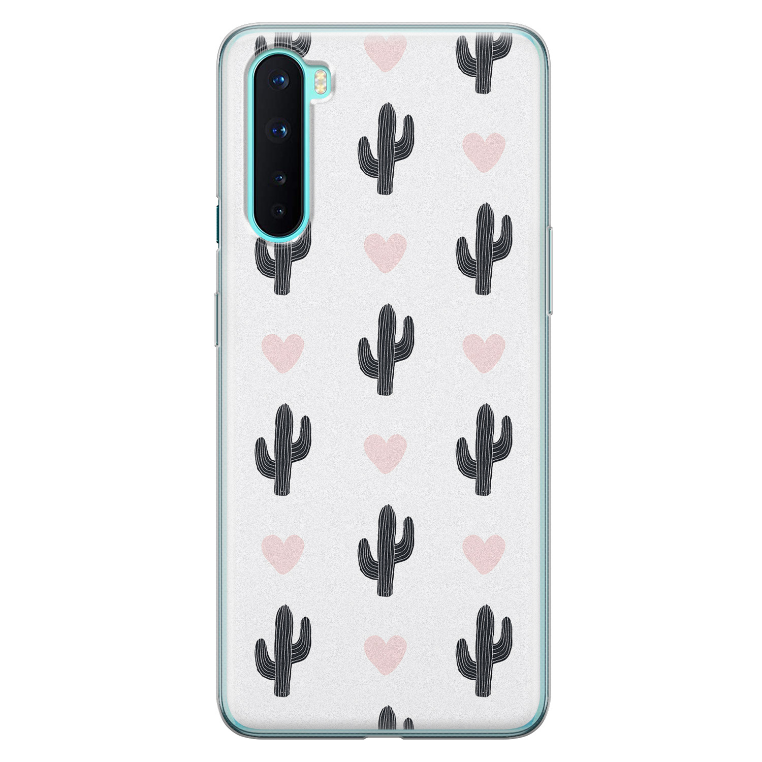 OnePlus Nord siliconen hoesje - Cactus love