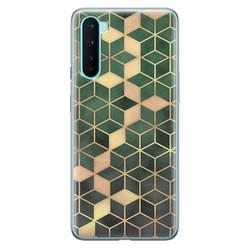 Leuke Telefoonhoesjes OnePlus Nord siliconen hoesje - Green cubes