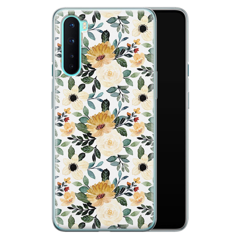 OnePlus Nord siliconen hoesje - Lovely flower