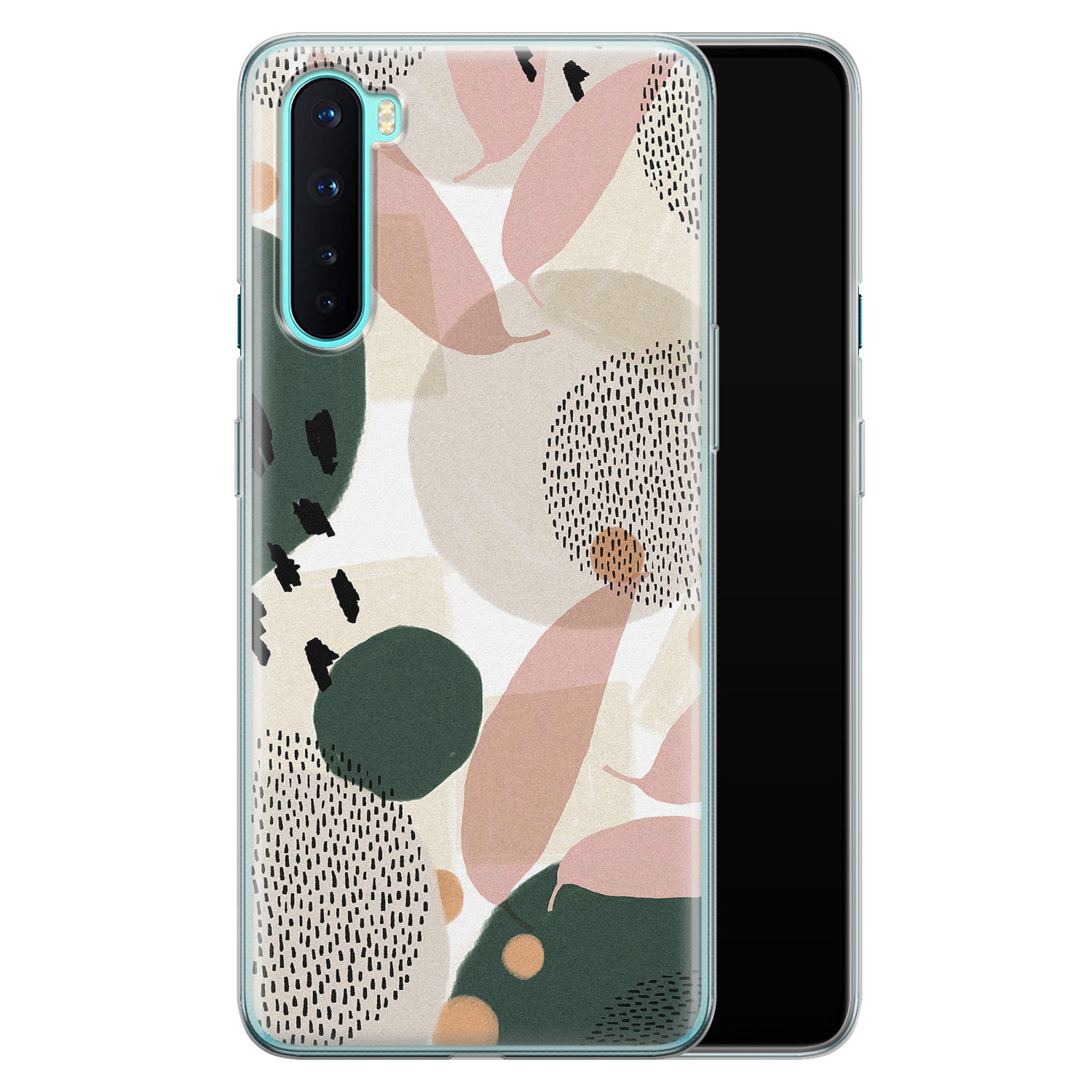 OnePlus Nord siliconen hoesje - Abstract print