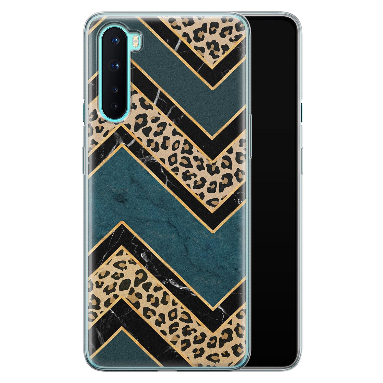 OnePlus Nord siliconen hoesje - Luipaard zigzag