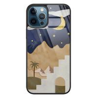 iPhone 12 glazen hardcase - Desert night