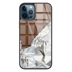 Leuke Telefoonhoesjes iPhone 12 glazen hardcase - Chocoladereep