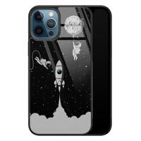 iPhone 12 glazen hardcase - Space shuttle
