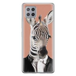 Leuke Telefoonhoesjes Samsung Galaxy A42 siliconen hoesje - Baby zebra