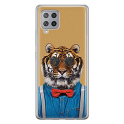 Samsung Galaxy A42 siliconen hoesje - Tijger hipster