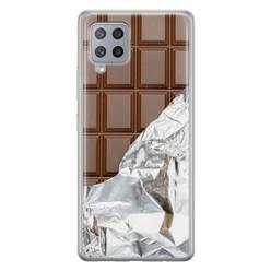 Leuke Telefoonhoesjes Samsung Galaxy A42 siliconen hoesje - Chocoladereep