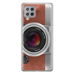 Samsung Galaxy A42 siliconen hoesje - Vintage camera