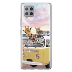Leuke Telefoonhoesjes Samsung Galaxy A42 siliconen hoesje - Wanderlust