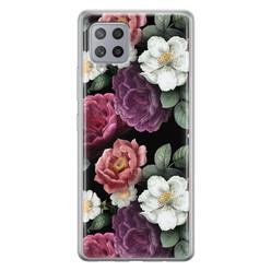 Leuke Telefoonhoesjes Samsung Galaxy A42 siliconen hoesje - Bloemenliefde