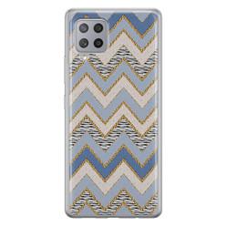 Leuke Telefoonhoesjes Samsung Galaxy A42 siliconen hoesje - Retro zigzag