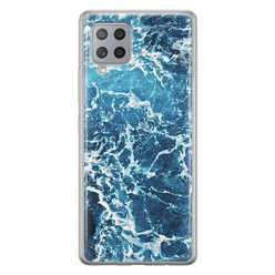 Leuke Telefoonhoesjes Samsung Galaxy A42 siliconen hoesje - Ocean blue