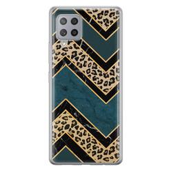 Leuke Telefoonhoesjes Samsung Galaxy A42 siliconen hoesje - Luipaard zigzag