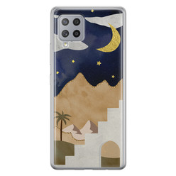 Leuke Telefoonhoesjes Samsung Galaxy A42 siliconen hoesje - Desert night