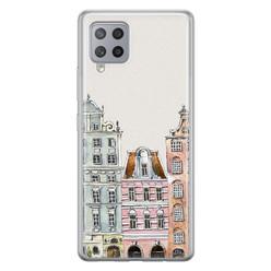 Leuke Telefoonhoesjes Samsung Galaxy A42 siliconen hoesje - Grachtenpandjes