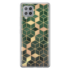Leuke Telefoonhoesjes Samsung Galaxy A42 siliconen hoesje - Green cubes