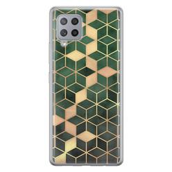 Samsung Galaxy A42 siliconen hoesje - Green cubes