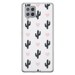 Samsung Galaxy A42 siliconen hoesje - Cactus love