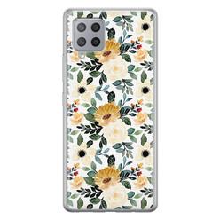Leuke Telefoonhoesjes Samsung Galaxy A42 siliconen hoesje - Lovely flower