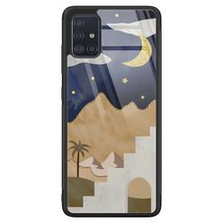Samsung Galaxy A71 glazen hardcase - Desert night