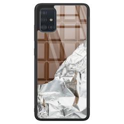 Samsung Galaxy A71 glazen hardcase - Chocoladereep