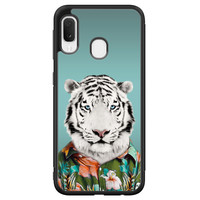 Samsung Galaxy A20e hoesje - Witte tijger