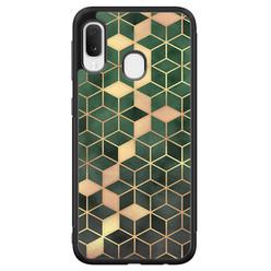Samsung Galaxy A20e hoesje - Green cubes